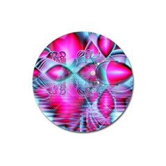 Ruby Red Crystal Palace, Abstract Jewels Magnet 3  (Round)