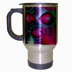 Ruby Red Crystal Palace, Abstract Jewels Travel Mug (silver Gray) by DianeClancy