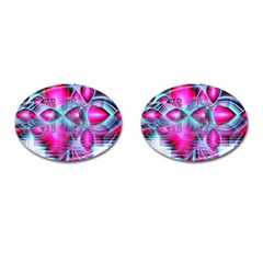 Ruby Red Crystal Palace, Abstract Jewels Cufflinks (oval) by DianeClancy
