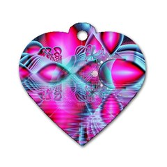 Ruby Red Crystal Palace, Abstract Jewels Dog Tag Heart (two Sided) by DianeClancy