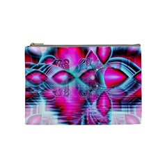 Ruby Red Crystal Palace, Abstract Jewels Cosmetic Bag (medium) by DianeClancy