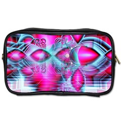 Ruby Red Crystal Palace, Abstract Jewels Travel Toiletry Bag (two Sides) by DianeClancy