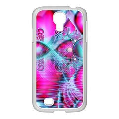 Ruby Red Crystal Palace, Abstract Jewels Samsung Galaxy S4 I9500/ I9505 Case (white) by DianeClancy