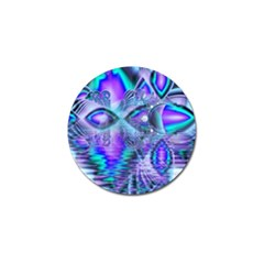 Peacock Crystal Palace Of Dreams, Abstract Golf Ball Marker by DianeClancy