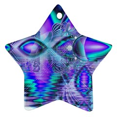Peacock Crystal Palace Of Dreams, Abstract Star Ornament (two Sides) by DianeClancy