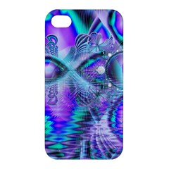 Peacock Crystal Palace Of Dreams, Abstract Apple Iphone 4/4s Premium Hardshell Case by DianeClancy