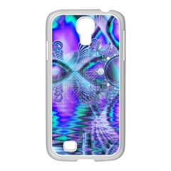 Peacock Crystal Palace Of Dreams, Abstract Samsung Galaxy S4 I9500/ I9505 Case (white) by DianeClancy