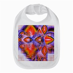 Crystal Star Dance, Abstract Purple Orange Bib by DianeClancy