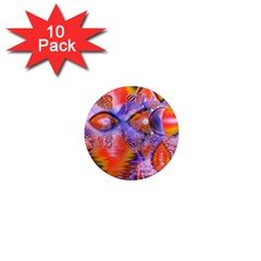 Crystal Star Dance, Abstract Purple Orange 1  Mini Button Magnet (10 Pack) by DianeClancy