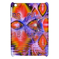 Crystal Star Dance, Abstract Purple Orange Apple Ipad Mini Hardshell Case by DianeClancy