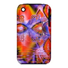 Crystal Star Dance, Abstract Purple Orange Apple Iphone 3g/3gs Hardshell Case (pc+silicone) by DianeClancy
