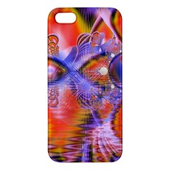 Crystal Star Dance, Abstract Purple Orange Apple Iphone 5 Premium Hardshell Case by DianeClancy