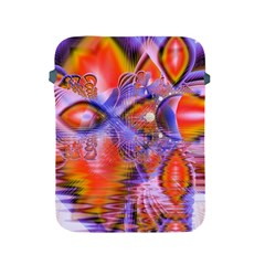 Crystal Star Dance, Abstract Purple Orange Apple Ipad Protective Sleeve by DianeClancy