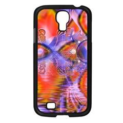 Crystal Star Dance, Abstract Purple Orange Samsung Galaxy S4 I9500/ I9505 Case (black) by DianeClancy