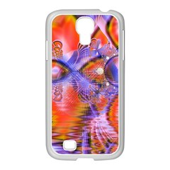Crystal Star Dance, Abstract Purple Orange Samsung Galaxy S4 I9500/ I9505 Case (white) by DianeClancy