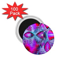 Crystal Northern Lights Palace, Abstract Ice  1 75  Button Magnet (100 Pack) by DianeClancy