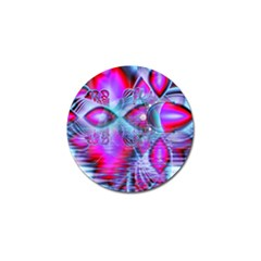Crystal Northern Lights Palace, Abstract Ice  Golf Ball Marker by DianeClancy