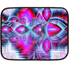 Crystal Northern Lights Palace, Abstract Ice  Mini Fleece Blanket (two Sided) by DianeClancy