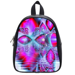 Crystal Northern Lights Palace, Abstract Ice  School Bag (small) by DianeClancy