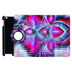 Crystal Northern Lights Palace, Abstract Ice  Apple Ipad 3/4 Flip 360 Case by DianeClancy