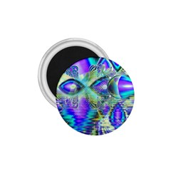 Abstract Peacock Celebration, Golden Violet Teal 1 75  Button Magnet by DianeClancy