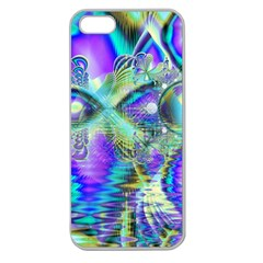 Abstract Peacock Celebration, Golden Violet Teal Apple Seamless Iphone 5 Case (clear) by DianeClancy