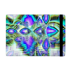 Abstract Peacock Celebration, Golden Violet Teal Apple Ipad Mini Flip Case by DianeClancy
