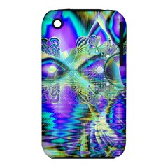 Abstract Peacock Celebration, Golden Violet Teal Apple Iphone 3g/3gs Hardshell Case (pc+silicone) by DianeClancy