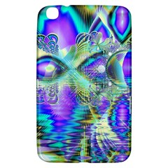 Abstract Peacock Celebration, Golden Violet Teal Samsung Galaxy Tab 3 (8 ) T3100 Hardshell Case  by DianeClancy