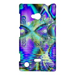 Abstract Peacock Celebration, Golden Violet Teal Nokia Lumia 720 Hardshell Case by DianeClancy