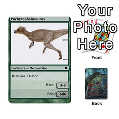 Mesozoic Hunter Cards By Michael   Playing Cards 54 Designs   3qbom8ya1v18   Www Artscow Com Front - Heart2