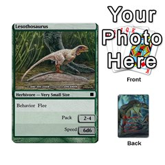 Mesozoic Hunter Cards By Michael   Playing Cards 54 Designs   3qbom8ya1v18   Www Artscow Com Front - Heart4