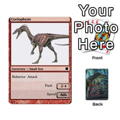 Mesozoic Hunter Cards By Michael   Playing Cards 54 Designs   3qbom8ya1v18   Www Artscow Com Front - Club3