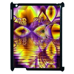 Golden Violet Crystal Palace, Abstract Cosmic Explosion Apple Ipad 2 Case (black) by DianeClancy