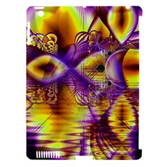 Golden Violet Crystal Palace, Abstract Cosmic Explosion Apple Ipad 3/4 Hardshell Case (compatible With Smart Cover) by DianeClancy