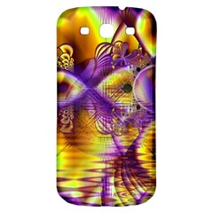 Golden Violet Crystal Palace, Abstract Cosmic Explosion Samsung Galaxy S3 S Iii Classic Hardshell Back Case by DianeClancy
