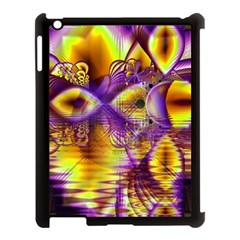 Golden Violet Crystal Palace, Abstract Cosmic Explosion Apple Ipad 3/4 Case (black) by DianeClancy