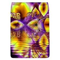 Golden Violet Crystal Palace, Abstract Cosmic Explosion Removable Flap Cover (large) by DianeClancy