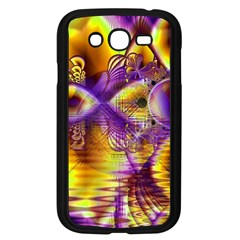 Golden Violet Crystal Palace, Abstract Cosmic Explosion Samsung Galaxy Grand Duos I9082 Case (black) by DianeClancy