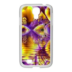 Golden Violet Crystal Palace, Abstract Cosmic Explosion Samsung Galaxy S4 I9500/ I9505 Case (white) by DianeClancy