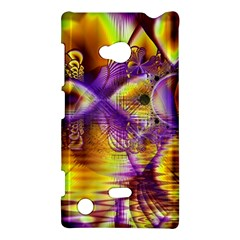 Golden Violet Crystal Palace, Abstract Cosmic Explosion Nokia Lumia 720 Hardshell Case by DianeClancy