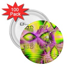 Raspberry Lime Mystical Magical Lake, Abstract  2 25  Button (100 Pack) by DianeClancy