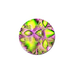 Raspberry Lime Mystical Magical Lake, Abstract  Golf Ball Marker 10 Pack by DianeClancy