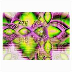 Raspberry Lime Mystical Magical Lake, Abstract  Glasses Cloth (large) by DianeClancy