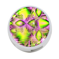 Raspberry Lime Mystical Magical Lake, Abstract  4 Port Usb Hub (two Sides) by DianeClancy