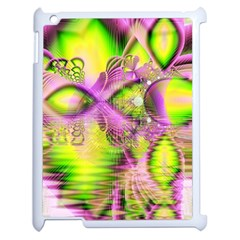 Raspberry Lime Mystical Magical Lake, Abstract  Apple Ipad 2 Case (white) by DianeClancy