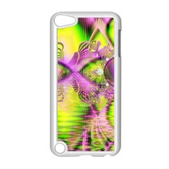 Raspberry Lime Mystical Magical Lake, Abstract  Apple Ipod Touch 5 Case (white) by DianeClancy
