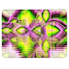 Raspberry Lime Mystical Magical Lake, Abstract  Samsung Galaxy Tab 7  P1000 Flip Case by DianeClancy