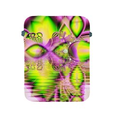 Raspberry Lime Mystical Magical Lake, Abstract  Apple Ipad Protective Sleeve by DianeClancy