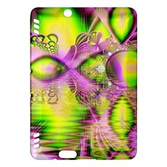 Raspberry Lime Mystical Magical Lake, Abstract  Kindle Fire Hdx 7  Hardshell Case by DianeClancy